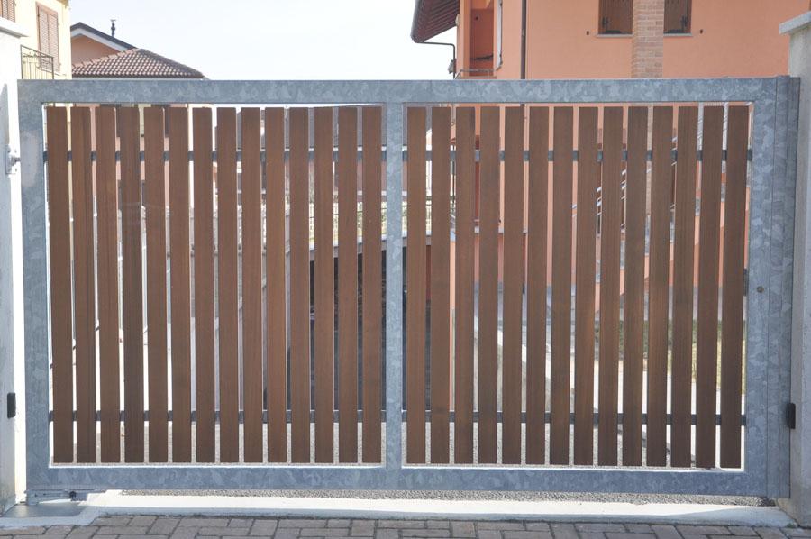 vista del cancello carraio